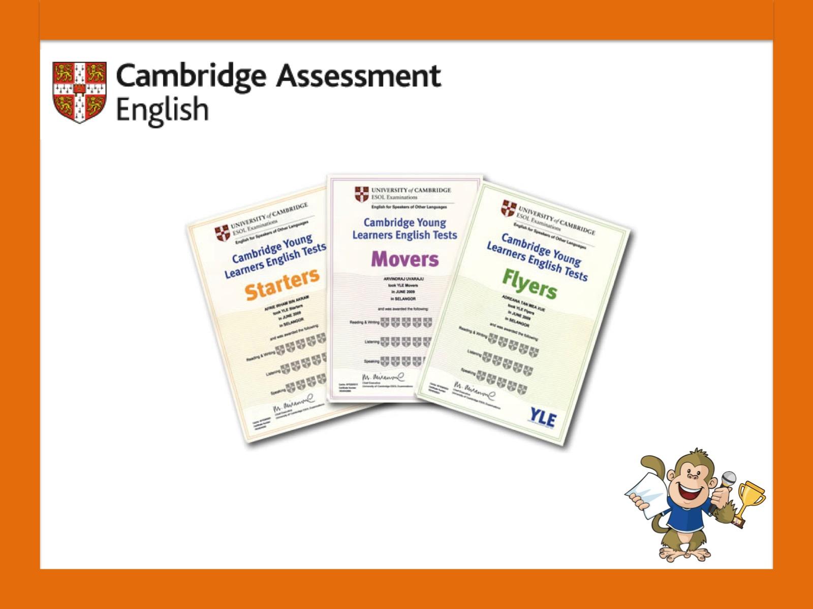 Examenele Cambridge YLE